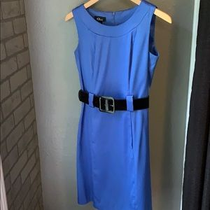 Blue business dress